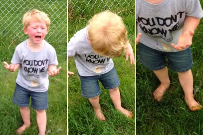 Kid-freaks-out-after-stepping-in-dog-poo