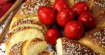 red-easter-eggs-and-traditional-tsoureki-brioche